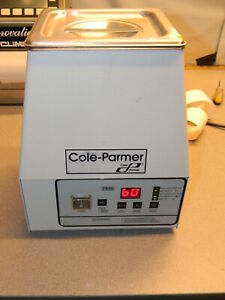 Cole parmer Ss Ultrasonic Cleaner Heater digital Timer 0 75 Gal 08895 04