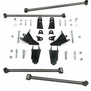 S10 Sonoma 1994 2004 Heavy Duty Triangulated 4 Link Kit Four Bar Suspension Drag