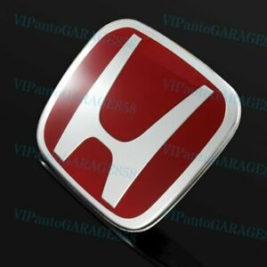 X1 Jdm Red H Front Rear 70 X 60mm Emblem Badge For 91 00 Civic Prelude S2000
