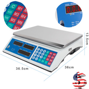 Digital Weight Scale Price Computing Retail Food Meat Fruit Scale Count Machine