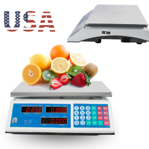Digital Weight Scale Price Computing Fruit Meat Deli Produce Price Computing