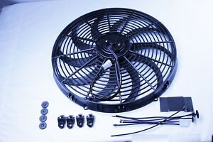 16 Inch Reversible Electric Radiator Cooling Fan Push Pull Assembly