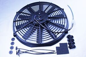 14 Electric Straight Blade Reversible Radiator Cooling Fan 12v High Performance