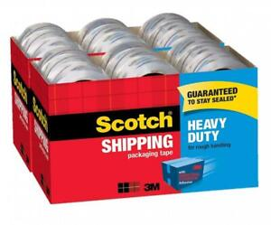 Scotch Heavy Duty Shipping Packaging Tape 36 Count 1 88 X 54 60 Yds Per