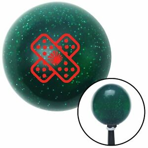 Red Jdm Band aid Green Metal Flake Shift Knob With 16mm X 1 5 Insert Accessory