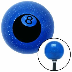 Black 3d 8 Ball Blue Metal Flake Shift Knob Bbc 510 Parts Painless Wrecker Tpi