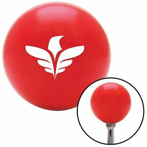 White Thunderbird Red Shift Knob With M16 X 1 5 Insert Gear Vintage Matchless