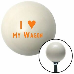 Orange I 3 My Wagon Ivory Shift Knob With 16mm X 1 5 Insert Gasser Parts Sbc