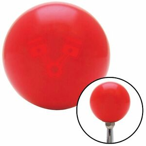 Red 2 Pistons Red Shift Knob With M16 X 1 5 Insert Racing Socal A Body Painless