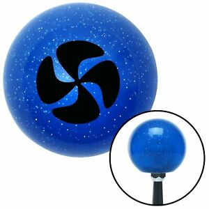 Black Swirling Fan Blue Metal Flake Shift Knob Accessories Mini Bike Gear Tpi