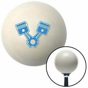 Blue 2 Pistons Ivory Shift Knob With 16mm X 1 5 Insert Auto Model A Uconnect 351