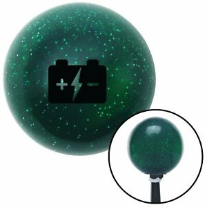 Black Automotive Car Battery Green Metal Flake Shift Knob With 16mm X 1 5 Insert