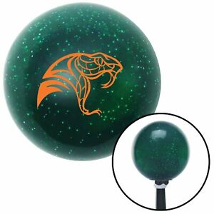 Orange Snake Profile Green Metal Flake Shift Knob With 16mm X 1 5 Insert Bbc