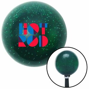 Hot Rod Text Green Metal Flake Shift Knob With 16mm X 1 5 Insert Wholesale