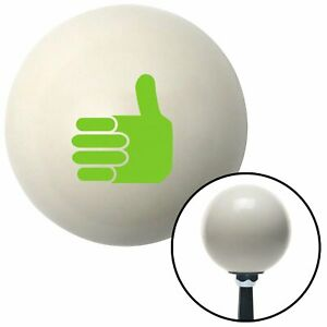 Green Thumbs Up Ivory Shift Knob With 16mm X 1 5 Insert Nascar 2 Din Small Block