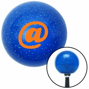 Orange Symbol Blue Metal Flake Shift Knob Gear Mini Bike Line Out Spyder Mac