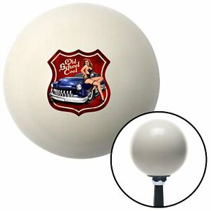 Old School Cool Ivory Shift Knob With M16x1 5 Insert Racing 956 Parts Sbc Ltr