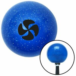 Black Automotive Cooling Fan Blue Metal Flake Shift Knob With 16mm X 1 5 Insert