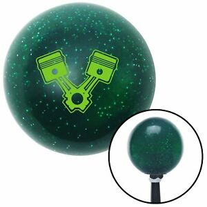 Green Pistons Green Metal Flake Shift Knob With 16mm X 1 5 Insert Bbc 409