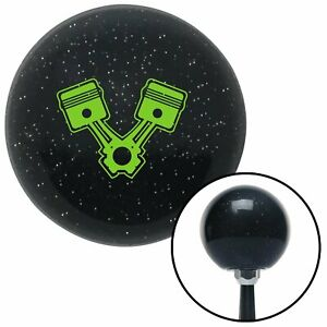 Green Pistons Black Metal Flake Shift Knob With M16x1 5 Insert Rhr Early 510