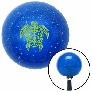 Green Turtle Blue Metal Flake Shift Knob Xtreme Brass Accessories Muscle Drag