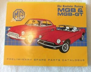 The Roadster Factory Mgb Mgb Gt Preliminary Spare Parts Catalogue