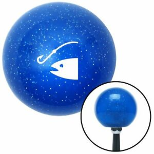 White Fish Hook Blue Metal Flake Shift Knob Uconnect A Body Model T Chopper