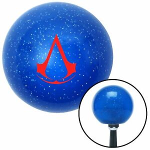 Red Assassins Creed Blue Metal Flake Shift Knob Wrecker Bert Sbc Parts Rhr