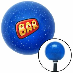 Bar Red Blue Metal Flake Shift Knob Parts Bbs Big Block Wrecker 2 Din Streetrod