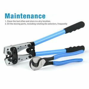 Iwiss Battery Cable Lug Crimping Tools Hand Electrician Pliers Crimping Cable