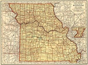 1942 Vintage Missouri Map Antique Map Of Missouri State Map Gallery Wall 6686