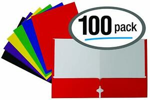 Letter Size Paper Portfolios By Better Office Products Case Of 100 Assorted Pr
