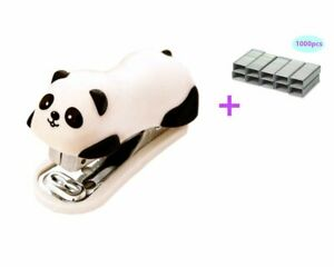 Yansanido Mini Cute Panda Mini Desktop Stapler With 1000 No 10 Staples For Offic