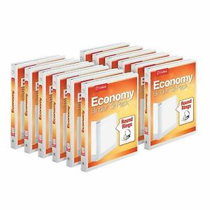 Cardinal Economy 3 ring Binders 1 2 Round Rings Holds 125 Sheets Clearvue P