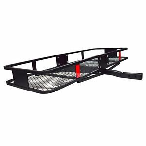 Trailer Hitch Basket Style Luggage Cargo Carrier With 500lb Cap For 2 Receiver