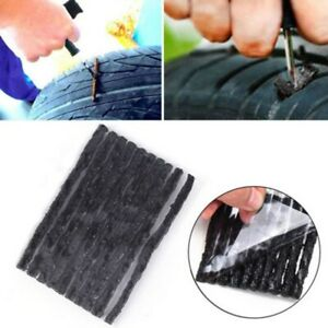 50pcs Car Bike Tyre Tubeless Plug Tire Strip Puncture Repair Tools Rubber Black
