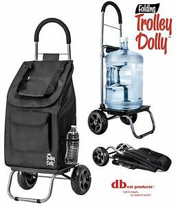 Dbest Products Trolley Dolly Black Shopping Grocery Foldable Cart