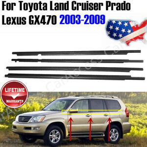 4pcs Weatherstrip Seal Belt For 03 09 Toyota Land Cruiser Prado Lexus Gx470