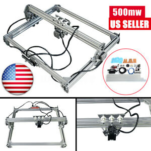 Us 50x65cm 500mw Cnc Laser Engraving Machine 2axis Dc 12v Diy Engraver Desktop