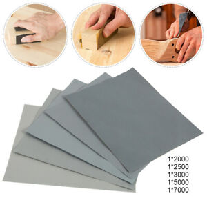 Wet And Dry Sandpaper Mixed Assorted Grit 2000 2500 3000 5000 7000 Pack Of 5
