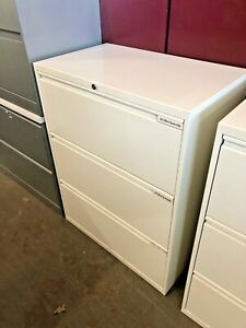3 Drawer Lateral Size File Cabinet By Office Specialty W lock key 30 w