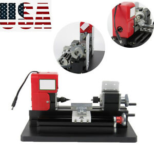 Mini Metal Wood Working Lathe Motorized Machine Diy Tool Metal Woodworking Xmas