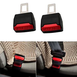 2x Car Auto Safety Seat Belt Buckle Extension Alarm Stopper Universal
