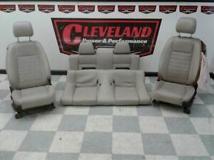 2010 2012 Mustang Gt Convertible Oem Front Rear Seats Stone Gray Leather Blown