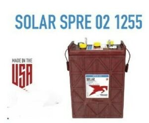 6x Trojan Batteries Solar Spre 02 12555 2 Volt 1 255ah Deep Cycle Flooded