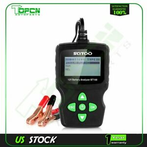 6v Lcd Vehicle Car Digital Battery Test Analyzer Diagnostic Tool W Clips Bt100
