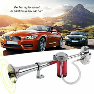 Single Tube Electric Air Horn 150db 12 24v For Car Motorcycle Vehicle Sk