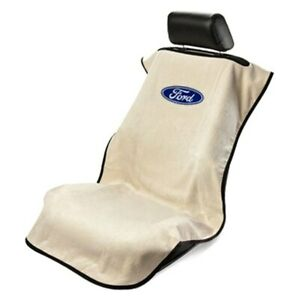 Seat Armour Sa100fort Tan Towel Seat Cover W Ford Logo