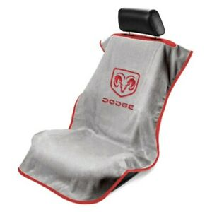 Seat Armour Sa100dodg Gray Towel Seat Cover W Old Style Logo