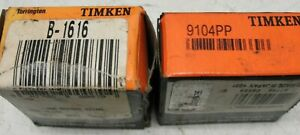 Timken B1616 Drawn Cup Needle 9104pp Roller Ball Bearing New Nos Lot Of 2